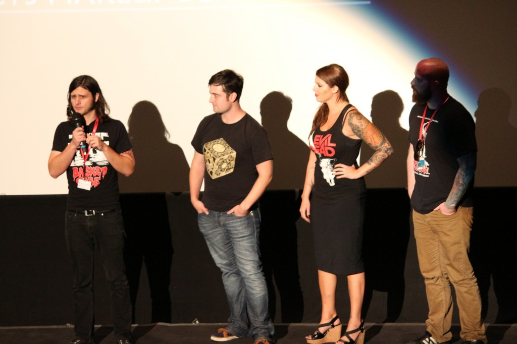 Director Joe Begos with Cast Graham Skipper, Vanessa Leigh, Josh Ethier.