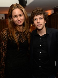 Katherine Waterston and Jesse Eisenberg