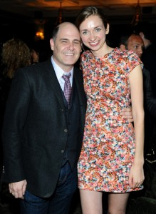 Producer Matthew Weiner  and Lauren Lapkus