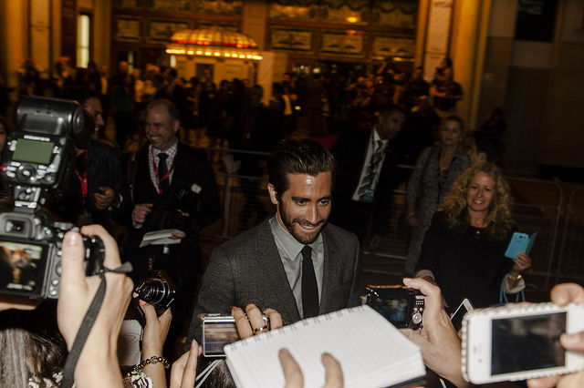Jake Gyllenhaal at the Prisoners Premiere. Photo Credit: Flickr/pingfoo