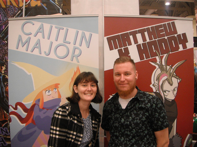 Space Pyrates authors Caitlin and Matthew